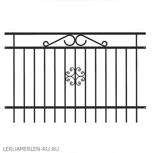 Секция заборная «Версаль» 2x1.25 м
