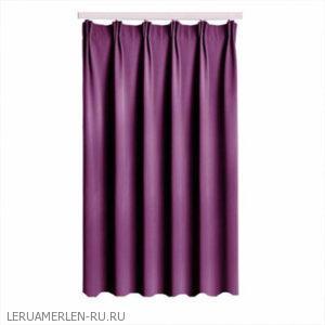 Штора на ленте, 140х260 см, блэкаут, цвет фиолетовый