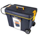 Ящик для инструмента Dexter на колесах, 620х420х370 мм, пластик, цвет синий/оранжевый