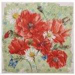 Канвас 30x30 см «Красные цветы»